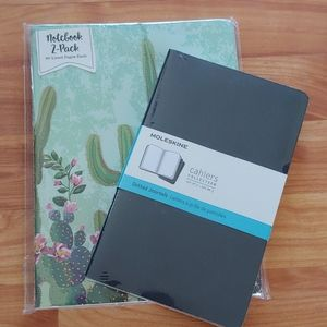 NOTEBOOK BUNDLE MOLESKIN AND LINED